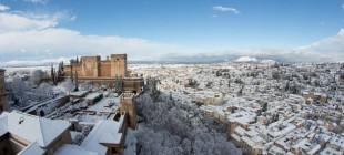 Nevada sobre Granada