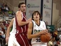 Ricky Rubio en su debut en la ACB en Granada